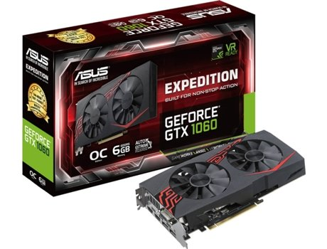 Placa Gráfica ASUS GeForce GTX 1060 Expedition (NVIDIA - 6 GB DDR5) — NVIDIA | GeForce GTX 1060