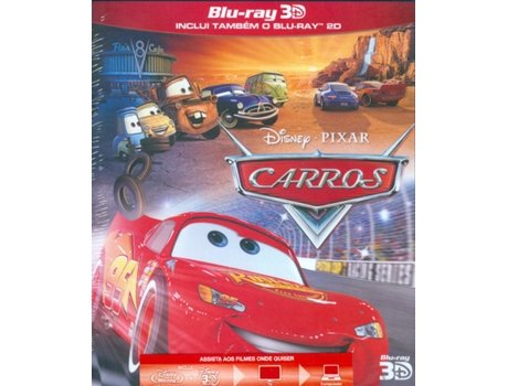 Blu-Ray 3D Carros — Do realizador John Lasseter