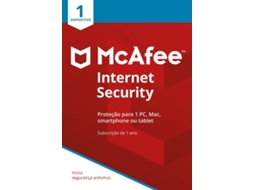 Software MCAFEE INTERNET SECURITY 1 Device — 1 Dispositivo