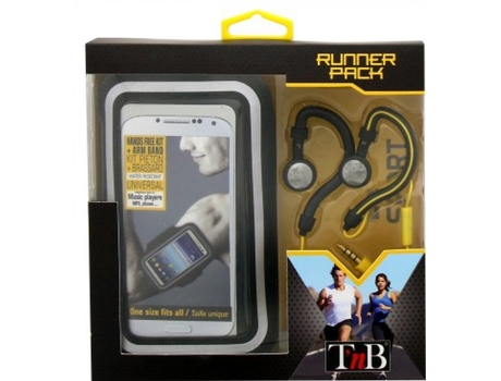 Kit Armband + Auscultadores TNB Running Sppack Preto — Kit Armband + Auscultadores / 32 ohms