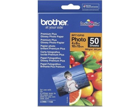 Papel Foto BROTHER Glossy 10X15 50 F