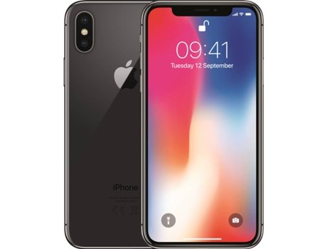 iPhone X APPLE (5.8'' - 3 GB - 64 GB - Cinzento sideral) — 3 GB RAM | Single SIM | 2 Câmaras traseiras
