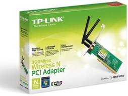 Adaptador Wireless TP-LINK N300 TL-WN851ND — Adaptador PCI | 300 Mbps