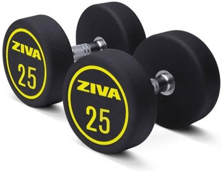 ZIVA - Halteres ZIVA Em Borracha Pega Em Aço (25 kg)
