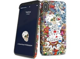 Capa I-PAINT Hard Tattoo iPhone X, XS Multicor — Compatibilidade: iPhone X, XS