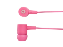 Auriculares Com fio GOODIS Rubber Candy (In Ear - Rosa) — In Ear | Atende chamadas