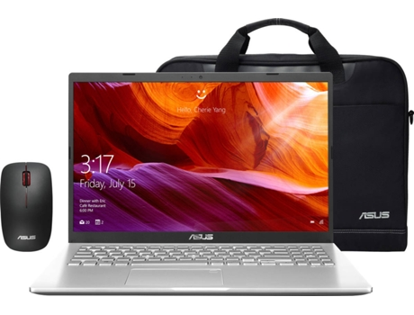 Pack ASUS Laptop (Portátil F509UA-37CHDSB2 + Mala 90-XB4000BA00010 + Rato WT300 RF) — Windows 10 | HD