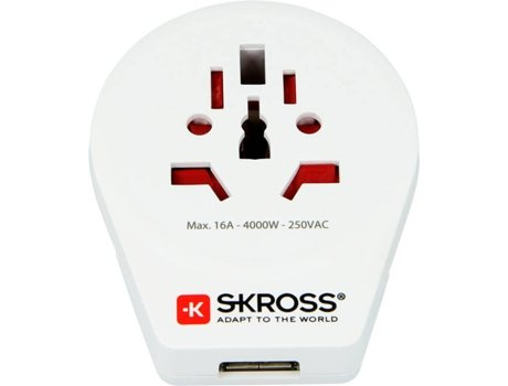 Adaptador de Viagem SKROSS World to Europe — Europa | 3680 W