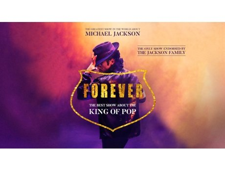 Bilhete Teatro Forever King Of Pop — Casino Estoril - Salão Preto E Prata