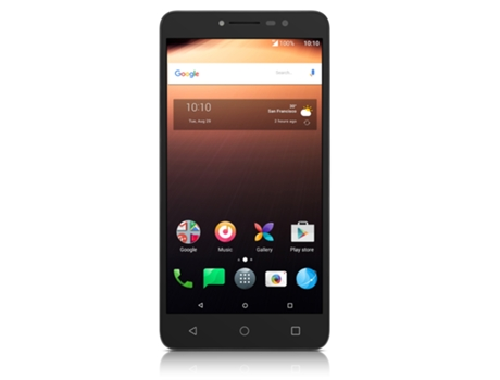 Smartphone ALCATEL A3 XL 16GB Cinza e Prateado — Android 7.0 / 6'' / Quad-core 1.1 GHz / 2GB RAM / Dual SIM