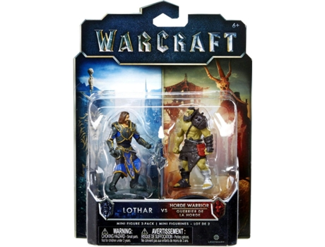 Pack Mini Figuras WARCRAFT Lothar VS Horde Warrior — Tamanho: 6 cm