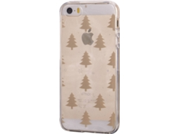 Capa KUNFT Gold Tree iPhone 5, 5s, SE Dourado — Compatibilidade: iPhone 5, 5s, SE