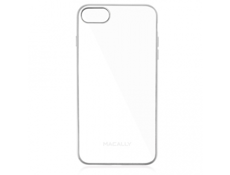 Capa MACALLY Clear iPhone 7, 8 Prateado — Compatibilidade: iPhone 7, 8