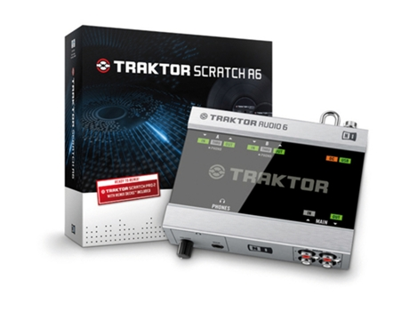Interface NATIVE INSTRUMENTS Traktor Scratch A6 — Entradas RCA: 3 | Saídas RCA: 3 | Porta USB