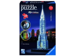 Puzzle 3D RAVENSBURGER Chrysler Building (Night Edition) — M10 | 216 peças