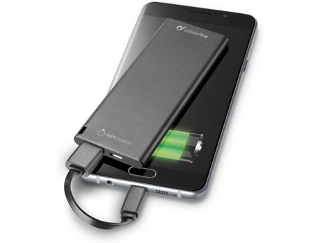 Powerbank CELLULAR LINE Freepslim Ultra Slim 3000 mAh Preto — 3000 mAh