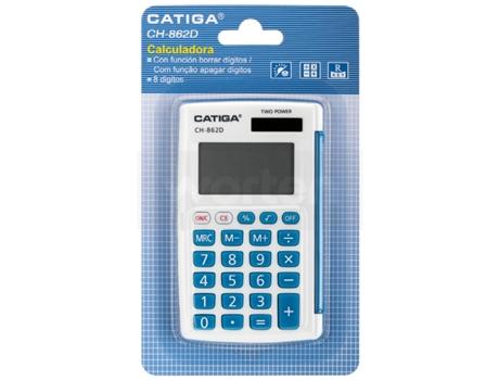 Calculadora Básica CATIGA CH-862D Azul  (8 dígitos)