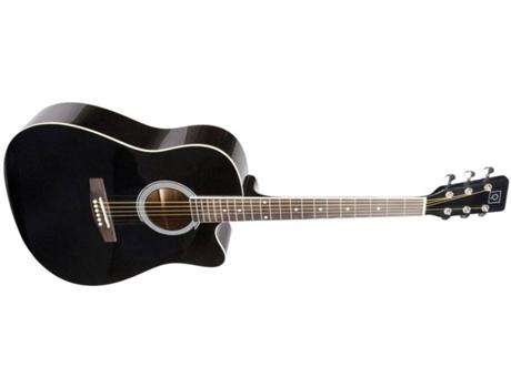 Guitarra Clássica OQAN QGA-21C BK Negra (20 Trastes - Corpo: Madeira de Abeto e Tília)