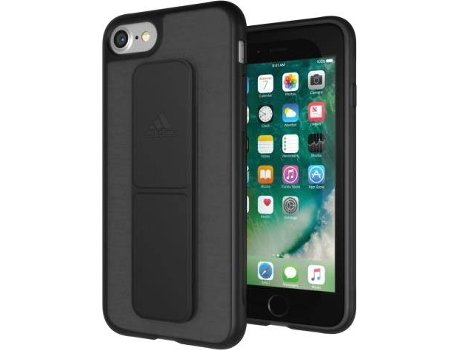 Capa ADIDAS Grip iPhone 6 Plus, 6s Plus, 7 Plus, 8 Plus Preto — Compatibilidade: iPhone 6 Plus, 6s Plus, 7 Plus, 8 Plus