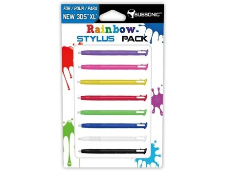 Pack SUBSONIC Rainbow Stylus New 3DS XL — Compatibilidade: New Nintendo 3DS XL
