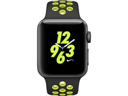 Apple Watch APPLE Nike+ 38 mm Preto, Verde — Bluetooth 4.0 e Wi-fi | 279 mAh | iOS