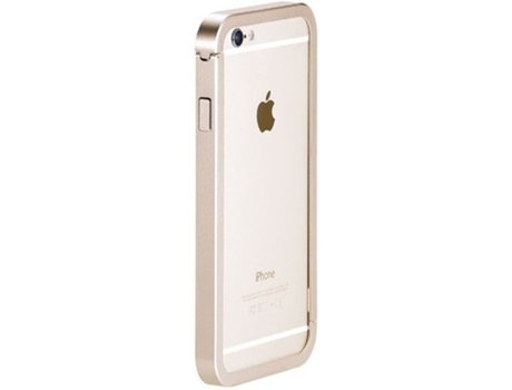 Capa JUST MOBILE Bumper AluFrame iPhone 6, 6s Dourado — Compatibilidade: iPhone 6, 6s