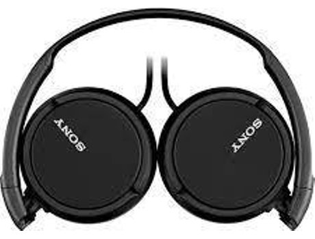 Auscultadores Com fio SONY MDRZX110 (On Ear - Microfone - Preto) — On Ear | Microfone | Atende chamadas