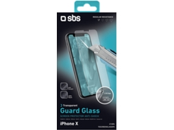 Película Vidro Temperado SBS Guard Glass iPhone X — Compatibilidade: iPhone X