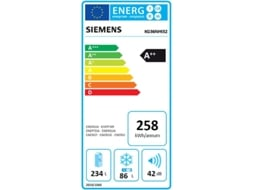 Frigorífico Combinado SIEMENS iSensoric Home Connect KG36NHI32 — A++ / No Frost / Refr. 234L Cong. 86L