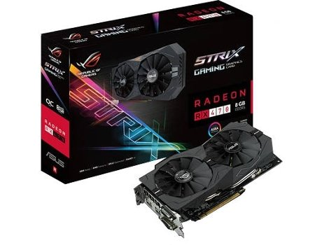 Placa Gráfica ASUS STRIX RX 470 OC 8G GAMING — AMD | RX 470
