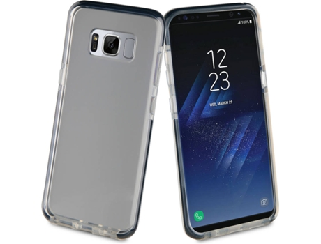 Capa MUVIT Crystal Soft Bump shockproof   Samsung Galaxy S8 Plus Preto — Compatibilidade: Galaxy S8