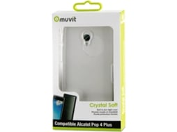 Capa MUVIT Crystal Soft Alcatel Pop 4 Plus Transparente — Compatibilidade: Alcatel Pop 4 Plus
