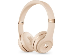 Auscultadores Bluetooth BEATS Solo 3 (On Ear - Microfone - Dourado)