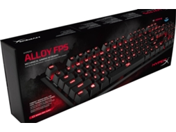 Teclado Gaming HYPER X Alloy (USB - Layout US - Switch Cherry MX Blue) — Com fio USB | Mecânico | Layout Português | Switch Cherry MX Blue | Iluminado