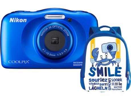 Kit Máquina Fotográfica Compacta NIKON Coolpix W150 + Mochila (Branco 13.2 MP ISO: 125 a 1600 Zoom Ótico: 3x)