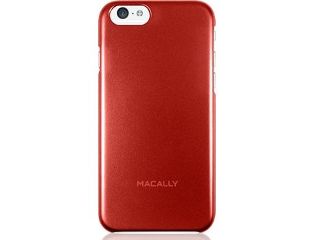 Capa MACALLY Metallic Snap-on iPhone 6, 6s Vermelho — Compatibilidade: iPhone 6, 6s, 7 ,8