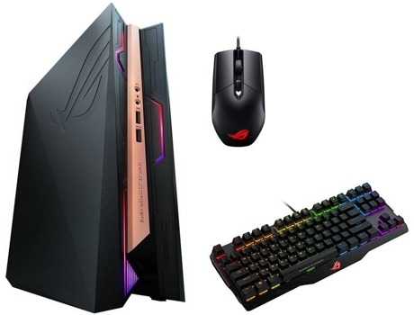 Mini PC ASUS Rog GR8 II + Teclado + Rato — Intel Core i7 | 8 GB | 1 TB HDD + 128 GB SSD | NVIDIA GeForce GTX 1060