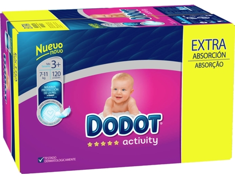 Fraldas DODOT Activity Extra Box T3 (120 unidades)