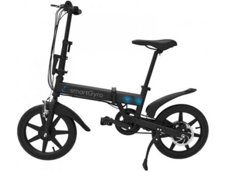 SMARTGYRO - Bicicleta Elétrica SMARTGYRO E-Bike Preta (Velocidade Máx: 25 km/h  Autonomia: 30 a 50 km)