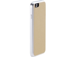 Capa JUST MOBILE AluFr Leather iPhone 6, 6s Dourado — Compatibilidade: iPhone 6, 6s, 7 ,8