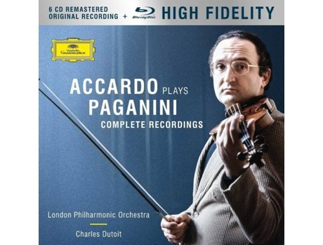 CD+ Blu-Ray Salvatore Accardo - Accardo Plays Paganini (The Complete Recordings) — Clássica