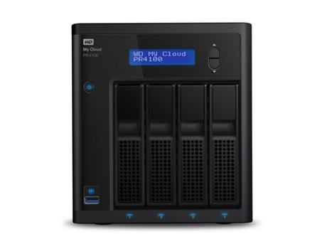 Servidor NAS Western Digital My Cloud PR4100 NAS PC Ethernet LAN Preto