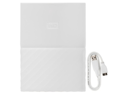 Disco Externo 2.5'' WD 1TB MY PASSPORT LUMEN Branco — 2.5'' | 1 TB | USB 3.0