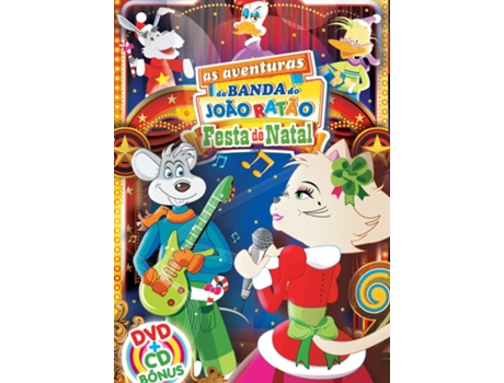 CD/DVD As Aventuras da Banda do João Ratão-Festa de Natal — Infantil