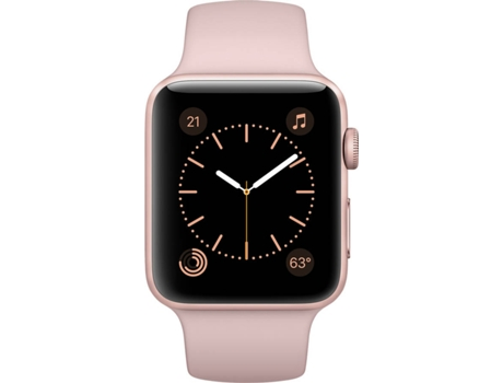 APPLE Watch Series 2 42mm Rose Gold Aluminium Case Pink Sand Band — iOS / 42 mm / Bluetooth 4.0 e Wi-fi