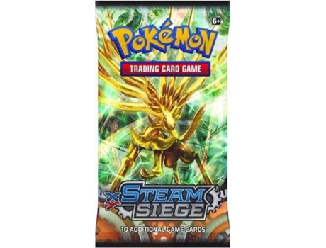Pack Cartas Pokémon XY11 Steam Siege Booster — Booster com 10 cartas