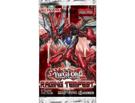 Pack Yu-Gi-Oh! Raging Tempest Booster — Pack com 9 cartas