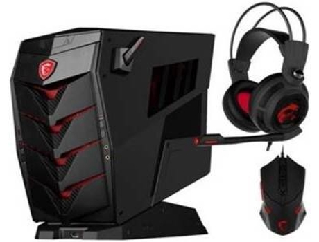 Desktop Gaming MSI AEGIS 3 VR7RC-003EU + Auscultadores + Rato — Intel Core i7-7700 | 8 GB | 2 TB + 256 GB