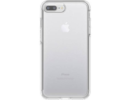 Capa OTTERBOX Symmetry Clear iPhone 7 Plus, 8 Plus Transparente — Compatibilidade: iPhone 7 Plus, 8 Plus