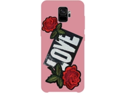 Capa SBS Love Patch Samsung Galaxy S9 Rosa — Compatibilidade: Samsung Galaxy S9